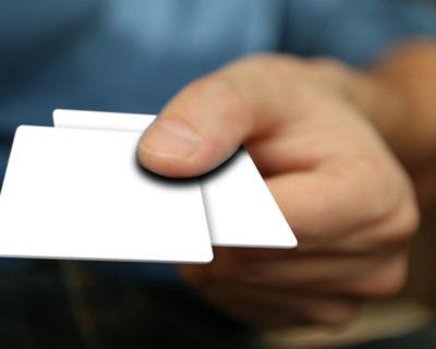 White Plastic Cards