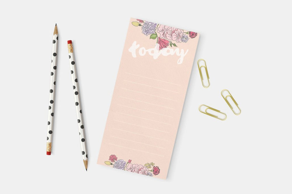 Linen Notepads | Pink | Printing Brooklyn